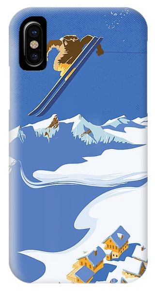Snow iPhone Case - Sky Skier by Sassan Filsoof