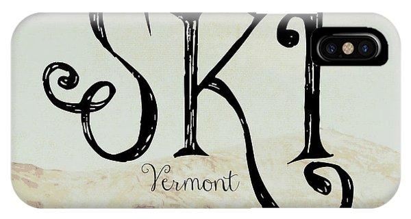 Holiday iPhone Case - Ski Vermont by Brandi Fitzgerald