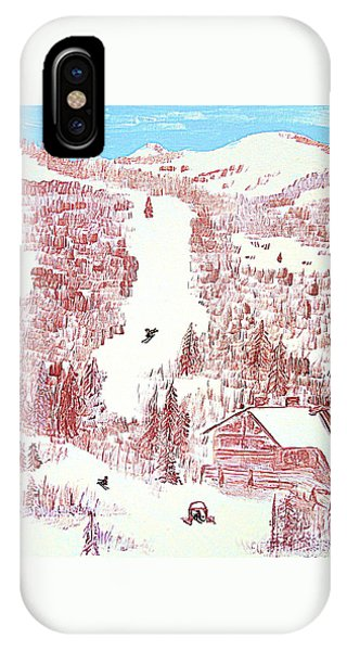 Skiing Deer Valley Utah IPhone Case