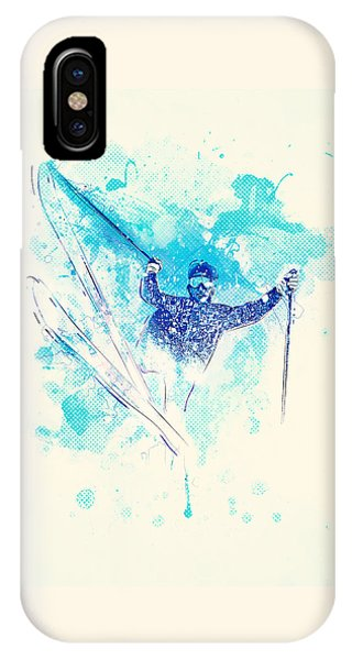 Sports Clothing iPhone Case - Skiing Down The Hill by BONB Creative
