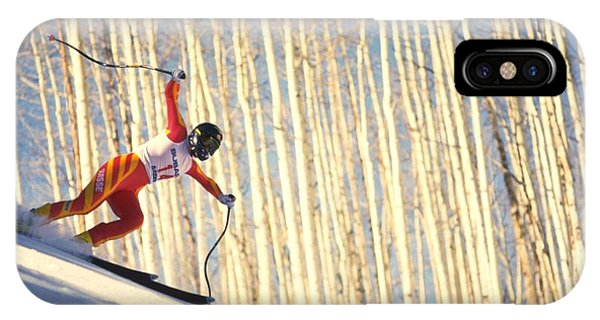 Skiing In Aspen, Colorado IPhone Case