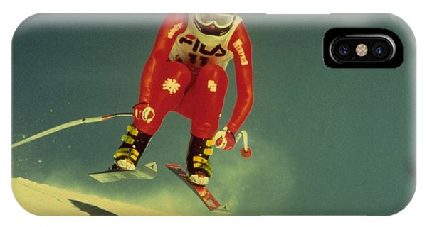 Skiing In Crans Montana IPhone Case