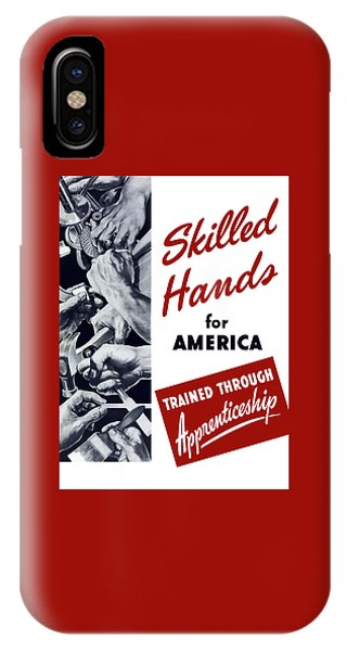Political iPhone Case - Skilled Hands For America by War Is Hell Store