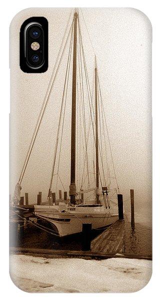 Skipjack iPhone Case - Skipjack Sepia by Skip Willits