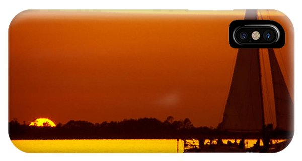 Skipjack iPhone Case - Skipjack Sunset by Thomas R Fletcher