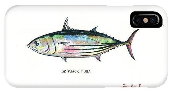 Skipjack iPhone Case - Skipjack Tuna by Juan Bosco