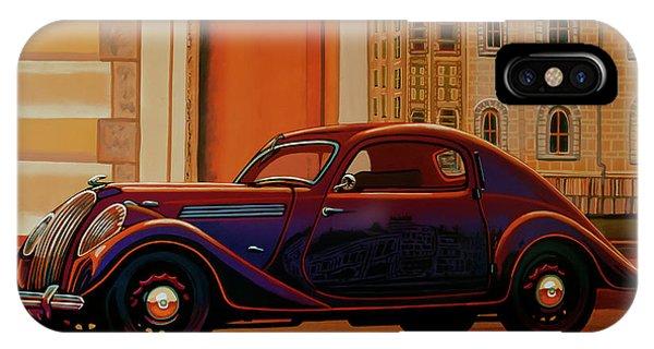 Oldtimer iPhone Case - Skoda Popular Sport Monte Carlo 1935 Painting by Paul Meijering