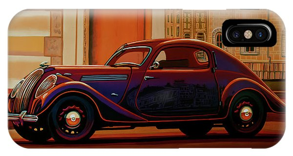 Estate iPhone Case - Skoda Popular Sport Monte Carlo 1935 Painting by Paul Meijering