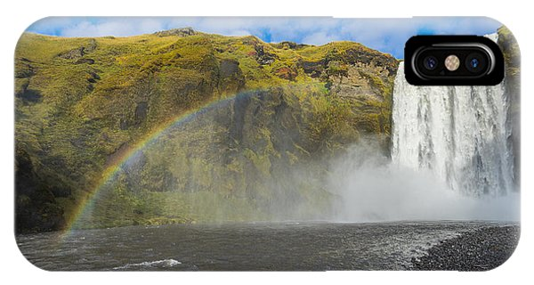 IPhone Case featuring the photograph Skogafoss Rainbow by James Billings