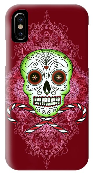 Skull And Candy Canes IPhone Case