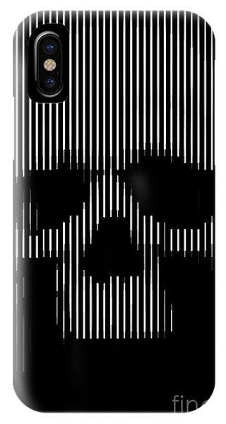 Skull iPhone Case - Skull Lines by Sassan Filsoof