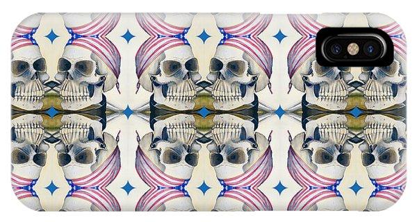 Skull Mirror Pattern Large IPhone Case