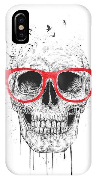 Skull With Red Glasses IPhone Case