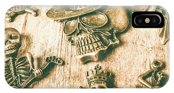 Jewelery iPhone Case - Skulls And Pieces by Jorgo Photography - Wall Art Gallery