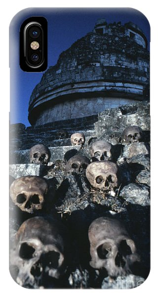 Maya iPhone Case - Skulls At Chichen Itza by The Harrington Collection