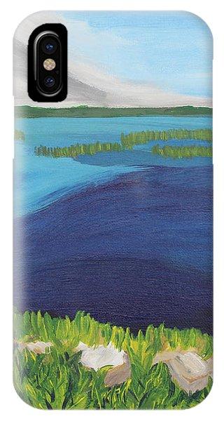 Serene Blue Lake IPhone Case