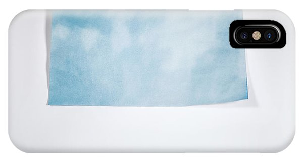 Minimalist iPhone Case - Sky Blue On White by Scott Norris