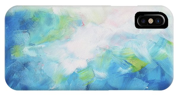 IPhone Case featuring the painting Sky Fall by Angela Treat Lyon