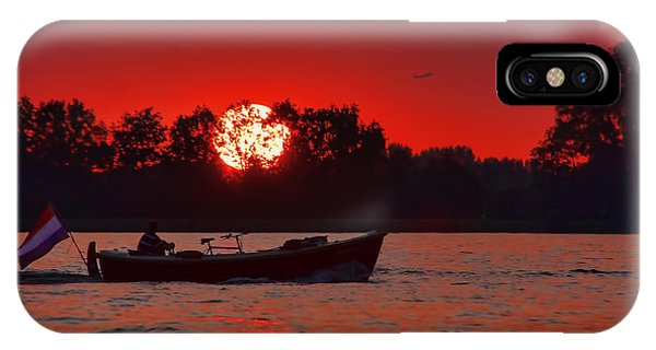 Sky On Fire IPhone Case