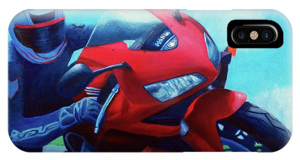 Movement iPhone Case - Sky Pilot - Honda Cbr600 by Brian  Commerford