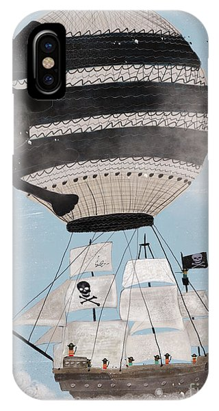 Hot Air Balloons iPhone Case - Sky Pirates by Bri Buckley