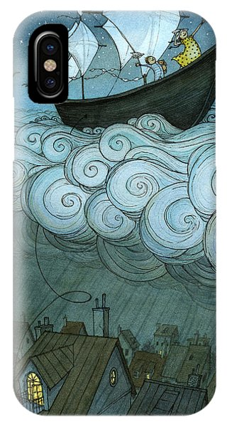 iPhone Case - Sky Sailing by Eliza Wheeler