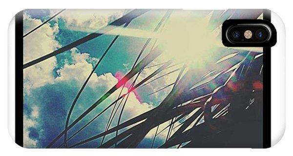 Sunny Days iPhone Case - #sky #sun #sunshine #skyporn #skylovers by Peggy Hoefner