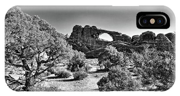 Skyline Arch In Arches National Park IPhone Case