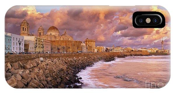 Skyline From Campo Del Sur Cadiz Spain IPhone Case