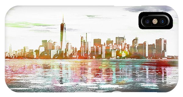Skyline Of New York City, United States IPhone Case