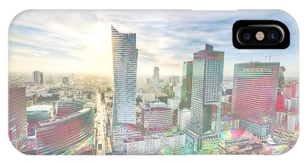 Skyline Of Warsaw Poland IPhone Case