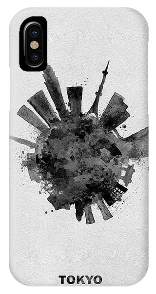 Black Skyround / Skyline Art Of Tokyo, Japan IPhone Case