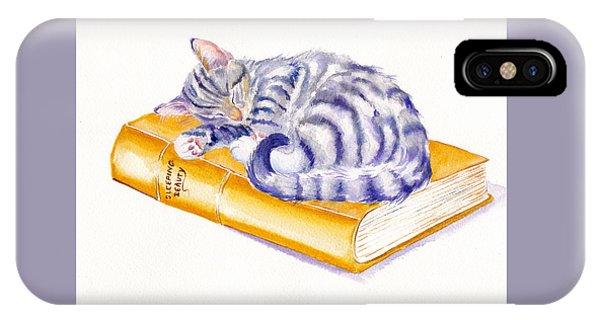 Cat iPhone Case - Sleeping Beauty by Debra Hall