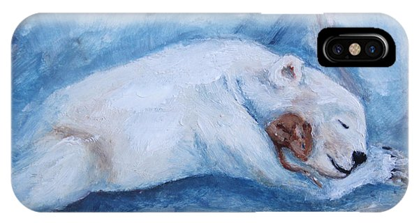 Sleeping Buddies Aceo Baby Polar Bear And Mouse IPhone Case