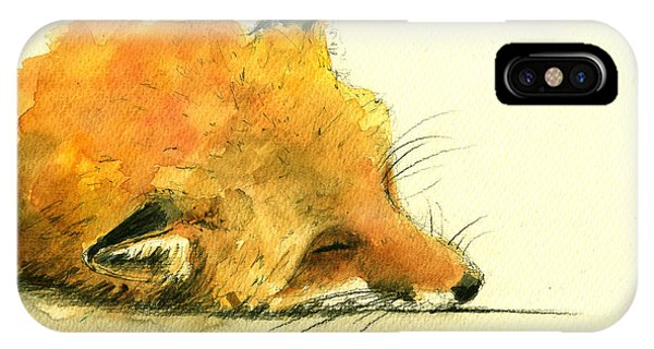 Sleeping Fox IPhone Case