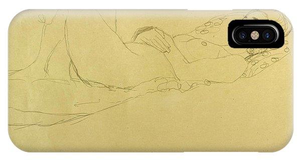 Impressionistic iPhone Case - Sleeping Girl by Gustav Klimt