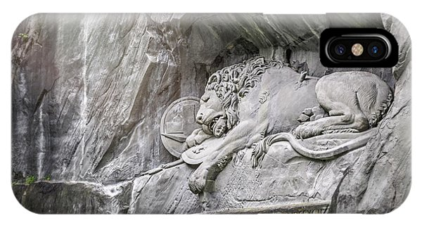 Sleeping Lion Of Lucerne  IPhone Case