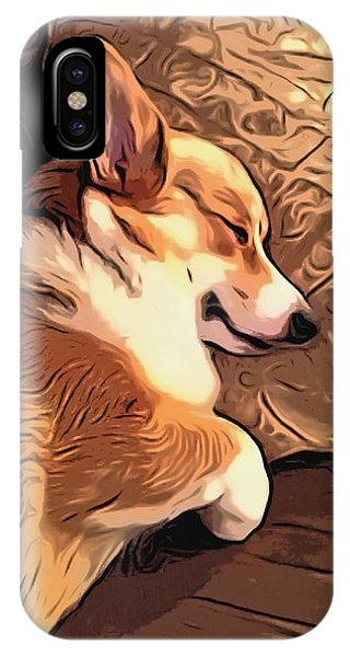 Banjo The Sleeping Welsh Corgi IPhone Case