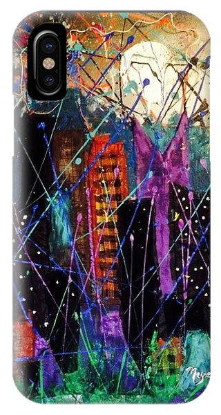 Pajama iPhone X Case - Sleepless In New York by Maye Yoga