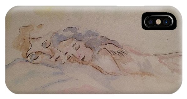 IPhone Case featuring the painting Sleepy Heads by Denise Tomasura
