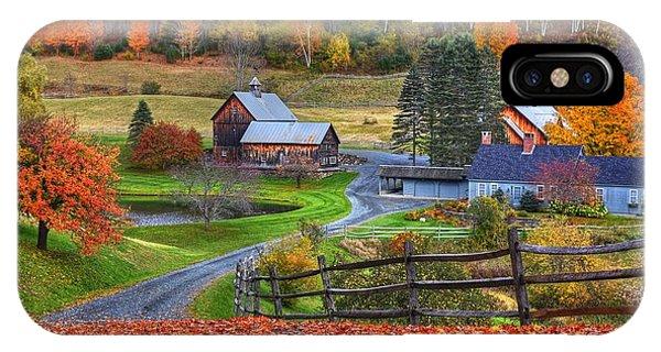 Sleepy Hollows Farm Woodstock Vermont Vt Autumn Bright Colors IPhone Case