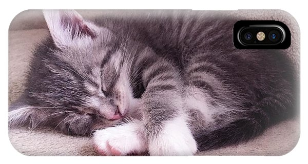Sleepy Kitten Bymaryleeparker IPhone Case