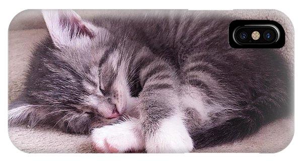 Sleepy Kitten Bymaryleeparker IPhone Case