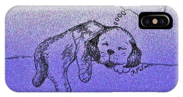 Sleepy Puppy Dreams IPhone Case