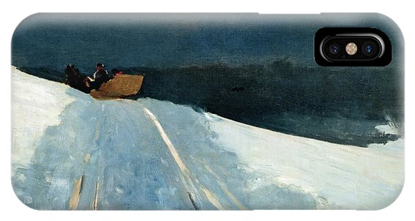 Ice iPhone Case - Sleigh Ride by Winslow Homer
