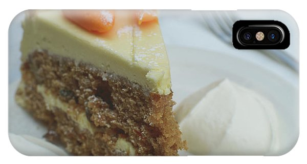 IPhone Case featuring the photograph Slice Of Carrot Cake With Cream B by Jacek Wojnarowski