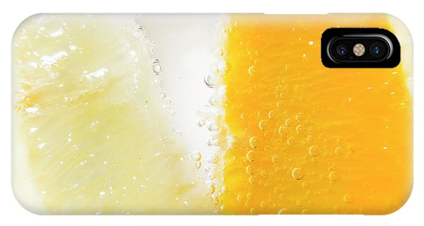 Closeup iPhone Case - Slice Of Orange And Lemon In Cocktail Glass by Jorgo Photography - Wall Art Gallery