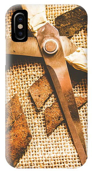 Damage iPhone Case - Slicing Of Segmented Leaves by Jorgo Photography - Wall Art Gallery