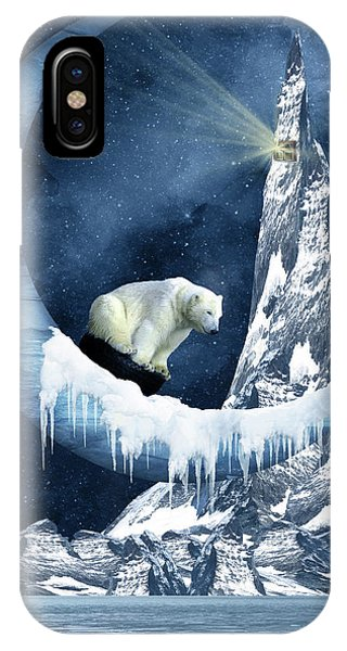 Sliding On The Moon IPhone Case