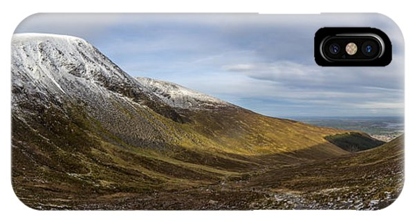 Slieve Commedagh And Slieve Donard Panorama From The Assent  IPhone Case